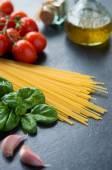 Fresh ingredients to make pasta — Stock Photo