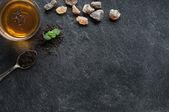 Mint tea background — Stock Photo