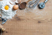 Ingredients and cooking utensils — Stock Photo