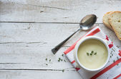 Potato soup background — Stock Photo