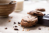 Breakfast with cookies — Stock Photo