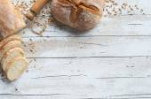 Bread and bakery background — Stock Photo