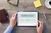 Responsive design on digital tablet — Stock Photo
