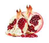 Pomegranate isolated on white background — Stock Photo
