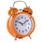 Alarm clock isolated on white background — Stock Photo