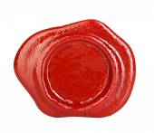 Sceau de cire rouge isolé sur fond blanc — Photo