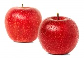 Apples with water drops isolated — Stock Photo