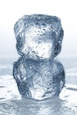 Ice cubes isolated on white. — Stock Photo