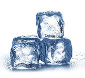 Ice cubes on white background. — Stock Photo