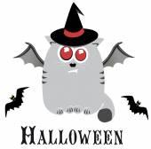 Halloween cartoon cat — Stock Vector