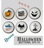 Halloween buttons — Stok Vektör