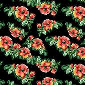 Vector flower vintage  navy pattern — Stock vektor