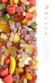 Sweet candy background — Stock Photo