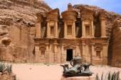 Petra monastery, Jordan — Stock Photo