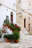 An Inn (Osteria) in a small street, Ostuni, Pulgia, Italy — Stock Photo
