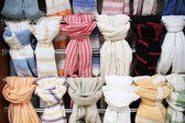 Colorful scarves at the market — Stock Photo
