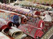 Oriental carpet market — Stock Photo