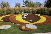Flower Clock in the public park, geneva, Switzerland — Foto de Stock