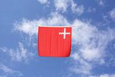 Swiss Canton Flag: Schwyz — Stock Photo