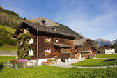 Traditional chalet in Alps regions — Stock Photo