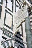 Basilica of Santa Maria Novella, with six-sundial complex, Florence, Italy — Stock Photo