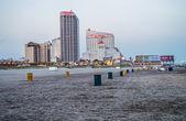ビーチはアトランティック シティを表示します。 — ストック写真