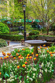 Tudor City Garden — Stock Photo