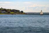 Sailboat off Cape Cod — Stock Photo