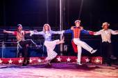 The parade of circus stars — Foto Stock