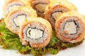 Deep-Fried Tuna Philadelphia Roll — Stock Photo
