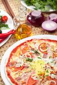 Carbonara Pizza — Stock Photo