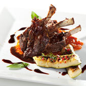 Lamb Chops and Vegetables — Foto Stock