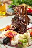 Lamb Chops with Risotto — Stock Photo