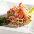 Japanese Cuisine - Hot Noodles with Seafood — Stock Photo #68037773