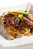 Noodles with Beef — Stock Photo