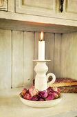 Vintage candlelight — Stock Photo