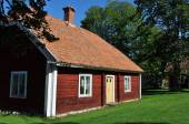 Swedish red cottage — Stock Photo