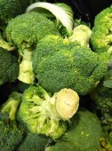 Broccoli is an edible green plant in the cabbage family — Stock Photo
