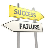 Success failure road sign — Stock Photo