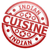 Indian cuisine stamp — Stock Photo