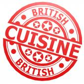 British cuisine stamp — Stock Photo