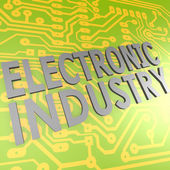 Electronic industry and PCB — Stock Photo