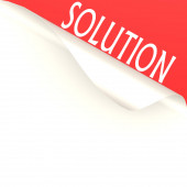 Solution word with white paper — Stock Photo