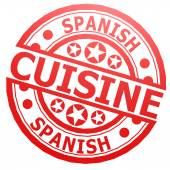 Spanish cuisine stamp — Stockfoto