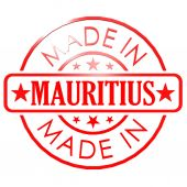 Made in Mauritius red seal — Foto de Stock