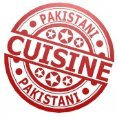 Pakistani cuisine stamp — Stockfoto