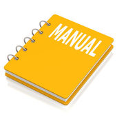 Manual hard cover book — Stock Photo
