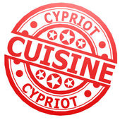 Cypriot cuisine stamp — Stock Photo
