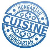 Hungarian cuisine stamp — Stock Photo