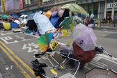 Manifestantes de democracia de Hong Kong estão lutando contra o chefe do executivo — Fotografia Stock
